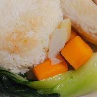 Riz, soupe et poulet Hainan